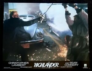 Highlander 1986 Vintage English Lobby Card Christopher Lambert Fight Scene