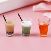 3pcs 1:12 mini cup dollhouse miniature milk cup drinking water cups ML