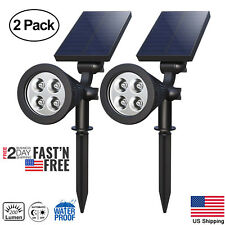 2pc Solar 4 LED Garden Lamp Spot Light Outdoor Lawn Landscape Spotlight Lighting