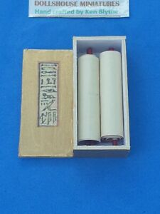 1;12 scale Egyptian style Papyrus in box crafted by Ken Blythe