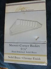 "Gatco #1497... 9-1/4"" Shower Corner Basket, Chrome Finish, Solid Brass + screws"