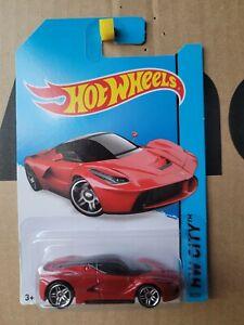 Hot Wheels - FERRARI LA FERRARI [RED] VHTF CAR NEAR MINT CARD EXCELLENT