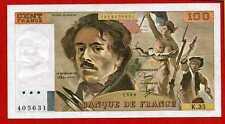 ( Ref: K.35) 100 FRANCS DELACROIX 1980 (SPL)