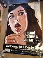 GRAND THEFT AUTO IV LIBERTY CITY Original Huge 4x6' Promo Poster Lollipop Girl