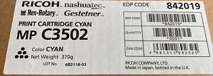 MPC3502 Copier Genuine Ricoh MP C3502 Cyan Toner 842019 Original