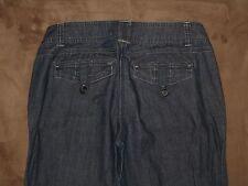 New York & Company Size 6 Boot Cut Flap Pocket Dark Blue Denim Trousers