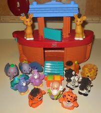 FISHER PRICE LITTLE PEOPLE TOUCH N FEEL NOAHS ARK ANIMAL BOAT FIGURE SET LOT