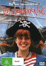 THE NEW ADVENTURES OF PIPPI LONGSTOCKING (1983)  DVD - UK Compatible -  sealed