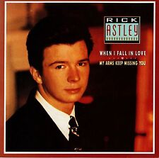 "RICK ASTLEY: WHEN I FALL IN LOVE 7"" 45 VINYL SINGLE RECORD Picture Sleeve Aus NM"