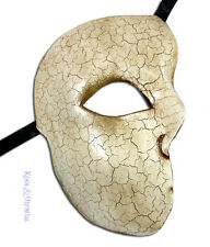 "Classic ""Phantom of the Opera"" VENETIAN Masquerade Mask: CREAM * Made in Italy"