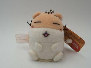 "Hamster Club A2512 Animal Wind Up Run 2.5"" Keychain Mascot Plush Toy Doll Japan"