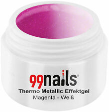 Thermo Metallic Effektgel Magenta-Weiß Thermogel Pink Thermo Gel Nagel Gel