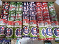 ENGLAND FOOTBALL FOIL WRAPPING PAPER X 48 ROLLS 4 STYLES 5M X 70CM GIFT WRAP