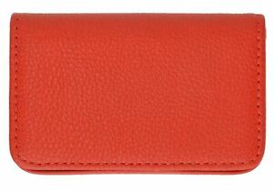 New Red Pocket PU Leather Business ID Credit Card Holder Case Wallet