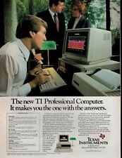 1983 TEXAS INSTRUMENTS   Computer  : Magazine  PRINT AD