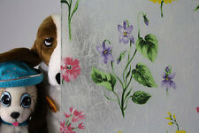 "Frosted Colored Flowers Static Cling Window Film, 36"" Wide x 1 yd. Sold by yard"