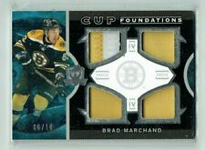 12-13 UD Upper Deck The Cup Foundations  Brad Marchand  /10  Quad Patches