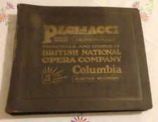 RARE 1st RECORDING OF AN OPERA IN ENGLISH 'PAGLIACCI' by LEONCAVALLO 1927 12LPs