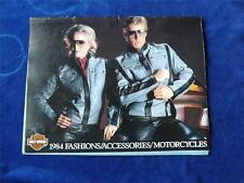 HARLEY DAVIDSON CATALOG FASHIONS ACCESSORIES MOTORCYCLES 1984 KITCHENER ONTARIO