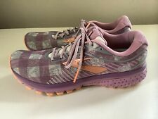 Brooks Ghost 12 Flannel Limited Edition Women's Shoes - Pink/Gray - Sz 11