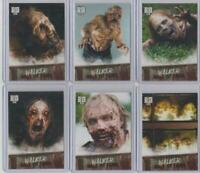2018 Topps Walking Dead Road to Alexandria Walker Hall of Fame Complete Set 1-9