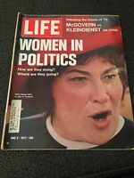 LIFE MAGAZINE JUNE 9, 1972 WOMEN IN POLITICS GOOD CONDITION