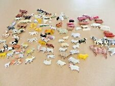 Large LOT  animals toy plastic Model Train VINTAGE  cows sheep goats ducks dogs