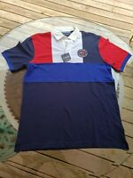 New Tag Ralph Lauren Polo Embroidered Color Block Polo Shirt Classic Size Medium