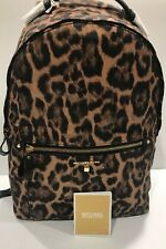 Michael Kors Leopard Nylon Kelsey Butterscotch Multi Large Backpack