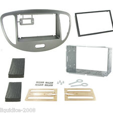 CT23HY25 FITS HYUNDAI I10 2008 to 2013 SILVER DOUBLE DIN FACIA ADAPTER PANEL