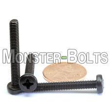 M4 x 30mm - Qty 10 - Phillips Pan Head Machine Screws - DIN 7985 A - Black Steel