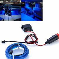 Car Flexible 2m LED Blue Neon Light Glow Strip Decor Atmosphere Lamp Light 12V