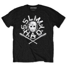 Eminem T Shirt Slim Shady Hockey Mask Official Black Mens Marshall Mathers XL