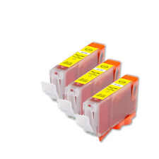 3 PK YELLOW Replacement Ink for Canon BCI-6Y S800 S820 S830 S900 i860 i950 i550