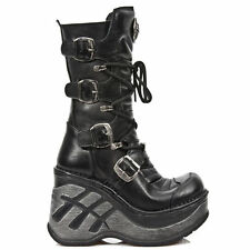 NewRock NEW ROCK SP9873-S1 BLACK LADIES TRAIL GOTHIC ROCK PUNK LEATHER BOOTS
