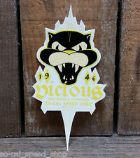 VICIOUS LOGO DECAL STICKER HOT ROD RETRO VTG GASSER DECAL RACING BELLY TANK
