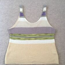 Missoni Knitted Vintage 80's Sleeveless Top Multi-coloured Italian Size S