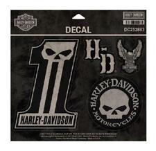 Harley Davidson Pegatina Willie G cráneo Genuino Logo 5 hoja de calcomanías Brillante