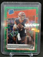 2020 Optic Football Joe Burrow Rated Rookie Green Velocity Prizm #151 Bengals