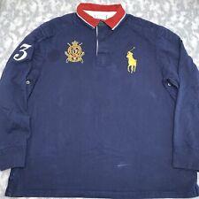 Vintage Mens Ralph Lauren Big Pony Logo Designer Shirt Size XX Large Rare