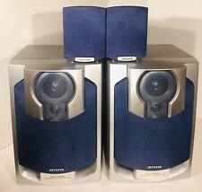 2 AIWA SPEAKERS 3 WAY BASS REFLEX SX-NAJ502 AND 2 SURROUND SOUND SX-R145 STEREO
