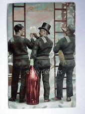 BUON ANNO Spazzacamino chimney sweep Schornsteinfeger vecchia cartolina