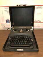 Vintage Remington Rand De Luxe Model 5 Portable Typewriter With Case Working