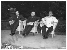 WAR PHOTO BERLIN CONFERENCE 1945 STALIN TRUMAN ATTLEE   POSTER ART PRINT HP3617