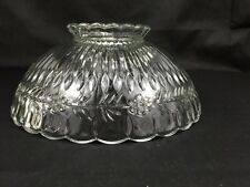 """Vintage 10"""" OD. Clear Glass Ceiling Lamp Light Shade Patented"""