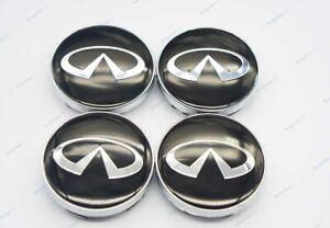 60mm 4Pcs Car modification Parts Wheel Center Caps Hub Cover Emblem for Infiniti