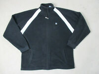 VINTAGE Fila Sweater Adult Extra Large Black White Fleece Full Zip Mens 90s