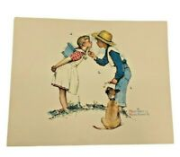 Vintage Beguilding Buttercup Norman Rockwell  8 X 10 Art Print Imbossed kissing