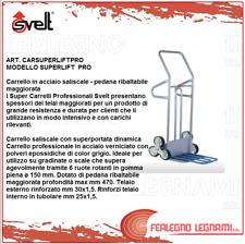 CARRELLO PORTAPACCHI SALISCALE 6 RUOTE PORTATA 280KG MOD.SUPERLIFT PRO SVELT
