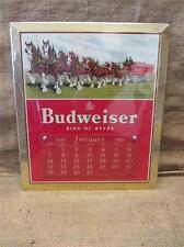 Vintage 1951 Budweiser Beer Calendar Sign > Antique Old Brewery Bud Light 9152